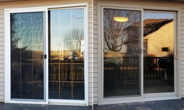 Pierre, SD - This Pierre, SD home upgraded their windows and patio door to our Energy Efficient Fibrex Windows and Sliding Glass Patio Door!