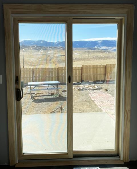 Casper, WY - This Casper, WY home upgraded their patio door to our Energy Efficient Fibrex Sliding Glass Patio Door!