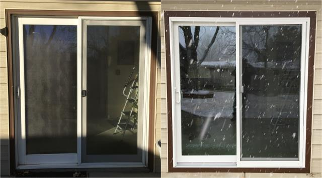 Casper, WY - These customers in Casper replaced this old patio door with a new RbA Sliding patio door!