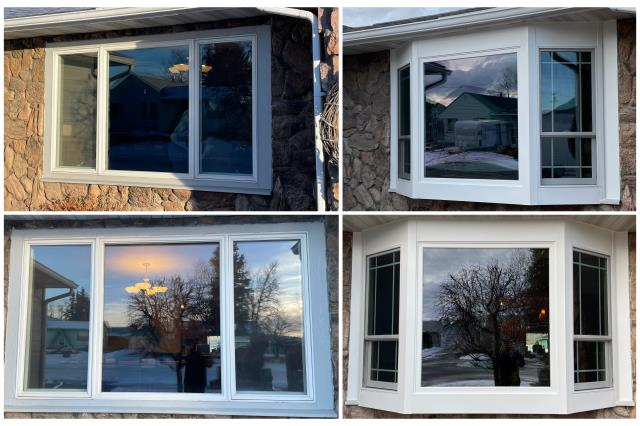 Butte, MT - Check out this job we did upgrading this Butte homeowners home with the new RbA Fibrex® Bay Window!!
