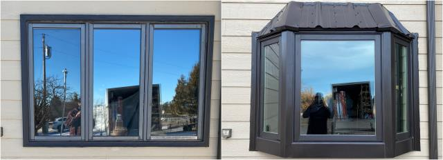 Rapid City, SD - This customer upgraded to their beautiful RbA Fibrex® Black Bay Window in Rapid City!
