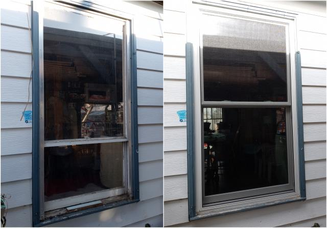Rapid City, SD - We updated the look of this Rapid City home with this new RbA Fibrex® Double-Hung Window!