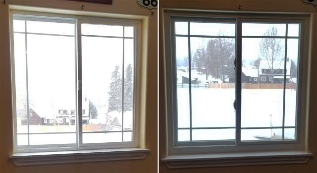 Missoula, MT - This Huson, MT home upgraded their windows to our Energy Efficient Fibrex Windows!