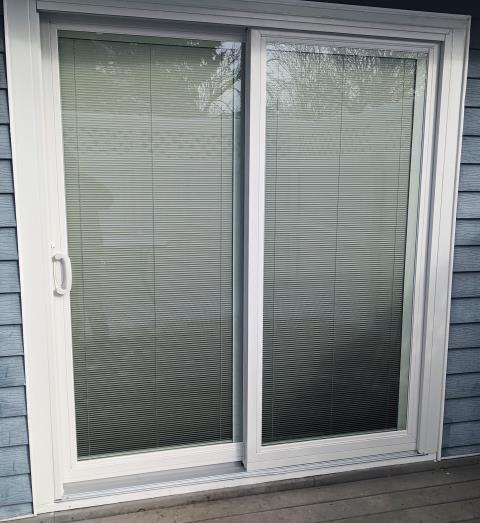 Great Falls, MT - This Great Falls, MT home upgraded their patio door to our Energy Efficient Fibrex Sliding Glass Patio Door!
