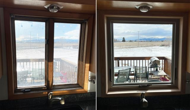 Helena, MT - This Helena, MT home upgraded their windows to our Energy Efficient Fibrex Windows!