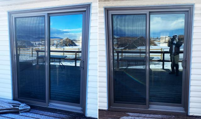 Bozeman, MT - This Bozeman, MT home upgraded their patio door to our Energy Efficient Fibrex Sliding Glass Patio Door!