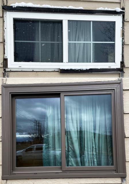 Butte, MT - This Butte, MT home upgraded their windows to our 5 Star Energy Efficient Fibrex Windows!