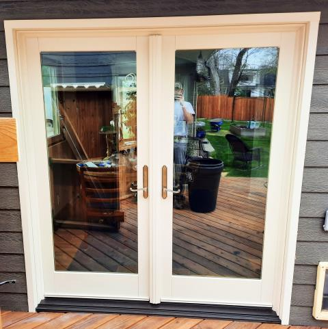 Billings, MT - This Billings, MT home upgraded their patio door to our Energy Efficient French Style Patio door!