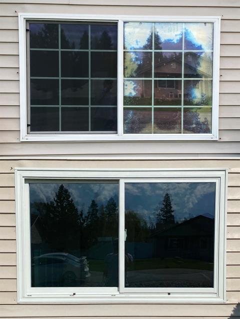 Kalispell, MT - This Kalispell, MT home upgraded their windows to our 5 Star Energy Efficient Fibrex Windows!
