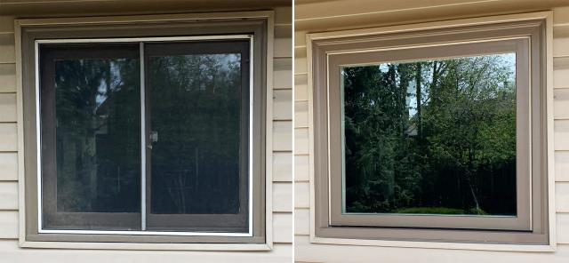Bozeman, MT - This Bozeman, MT home upgraded their windows to our 5 Star Energy Efficient Fibrex Windows!