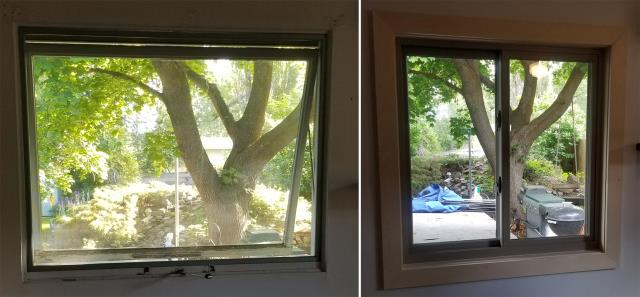 Missoula, MT - This Missoula, MT home upgraded their windows to our 5 Star Energy Efficient Fibrex Windows!