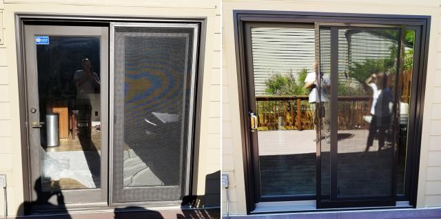 Billings, MT - This Billings, MT home upgraded their patio doors to our Energy Efficient Sliding Glass Patio Door!