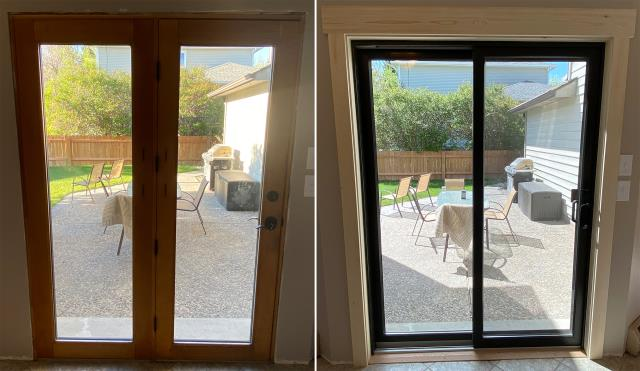 Helena, MT - This Helena, MT home upgraded their patio door to our energy efficient Sliding Glass Patio Door!