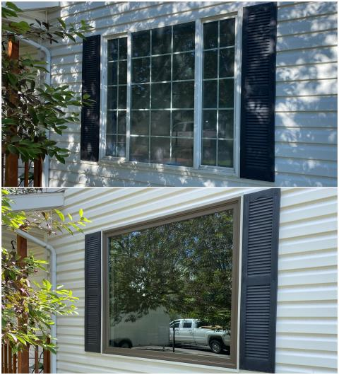 Belgrade, MT - These Belgrade customers opened up their view with this new RbA Fibrex® Picture window!