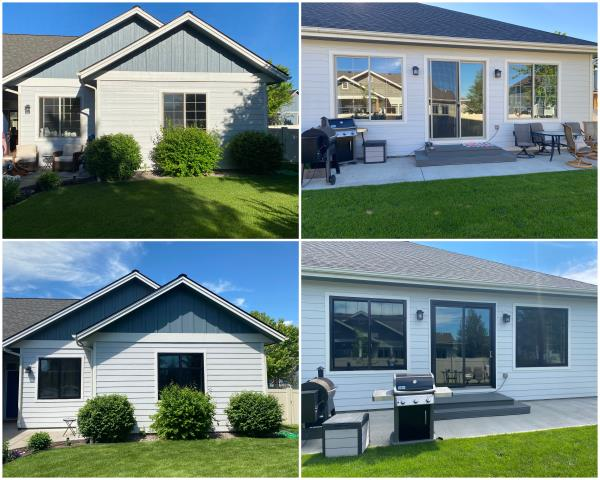 Kalispell, MT - WOW! Look at those before and afters! These folks in Kalispell upgraded their old windows to our RbA Fibrex® windows!