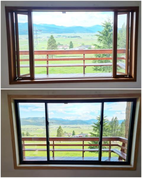 Kalispell, MT - Beautiful upgrade with our RbA Fibrex® windows! Install done in Kalispell.