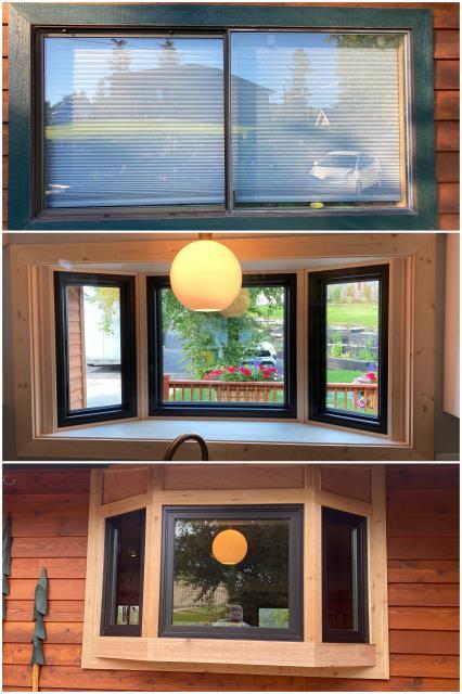 Kalispell, MT - Beautiful RbA Fibrex® bay window install in Kalispell! Absolutely stunning!