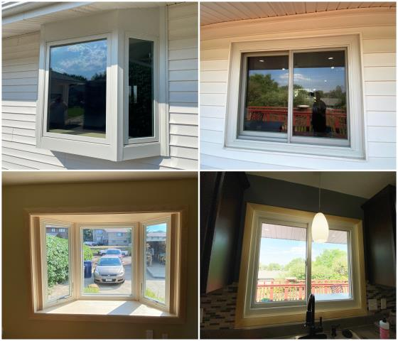 Great Falls, MT - Stunning inside & outside pictures of our RbA Fibrex® windows! Install done in Great Falls!