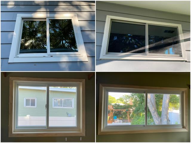 Great Falls, MT - Look at those RbA Fibrex® windows! Great inside & outside photos, install done in Great Falls.