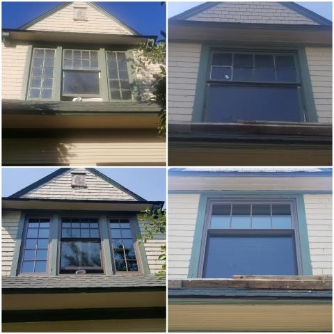 Billings, MT - WOW! What a great upgrade that these Double-Hung Cottage Style with Cocoa Bean Fractional Grille RbA Fibrex® windows made along with Forest Green exterior trim!