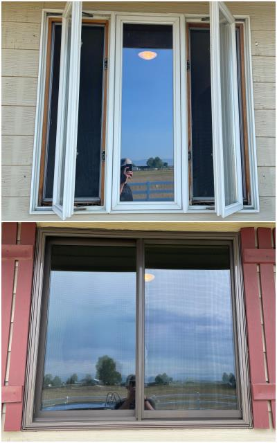 Belgrade, MT - We upgraded this old casement window in Belgrade to our RbA Fibrex® Gliding window with a Terratone exterior!