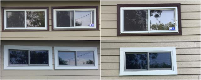 Billings, MT - These folks in Billings replaced their old windows with our RbA Fibrex® Gliding Windows finished with a stunning white exterior trim!