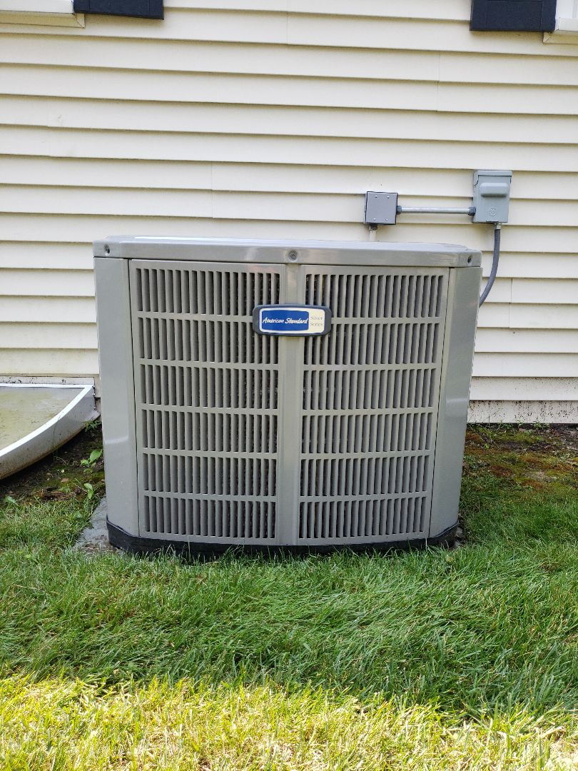 Northbrook, IL - Air conditioner maintenance call complete on American Standard air conditioner located in Northbrook, Illinois. North Shore Heating and Cooling located in Glenview, Illinois is a local HVAC contractor near you, Providing professional HVAC service to the north shore communities of Glenview, Northbrook, Deerfield, Highland Park, Lincolnshire, Riverwoods, Northfield, Wilmette and Winnetka for over 30 years. Call today to schedule your ac tune-up, furnace tune up or a free estimate for an ac replacement or furnace replacement at 847-729-1040 or visit us at www.northshoreheatingandcooling.com