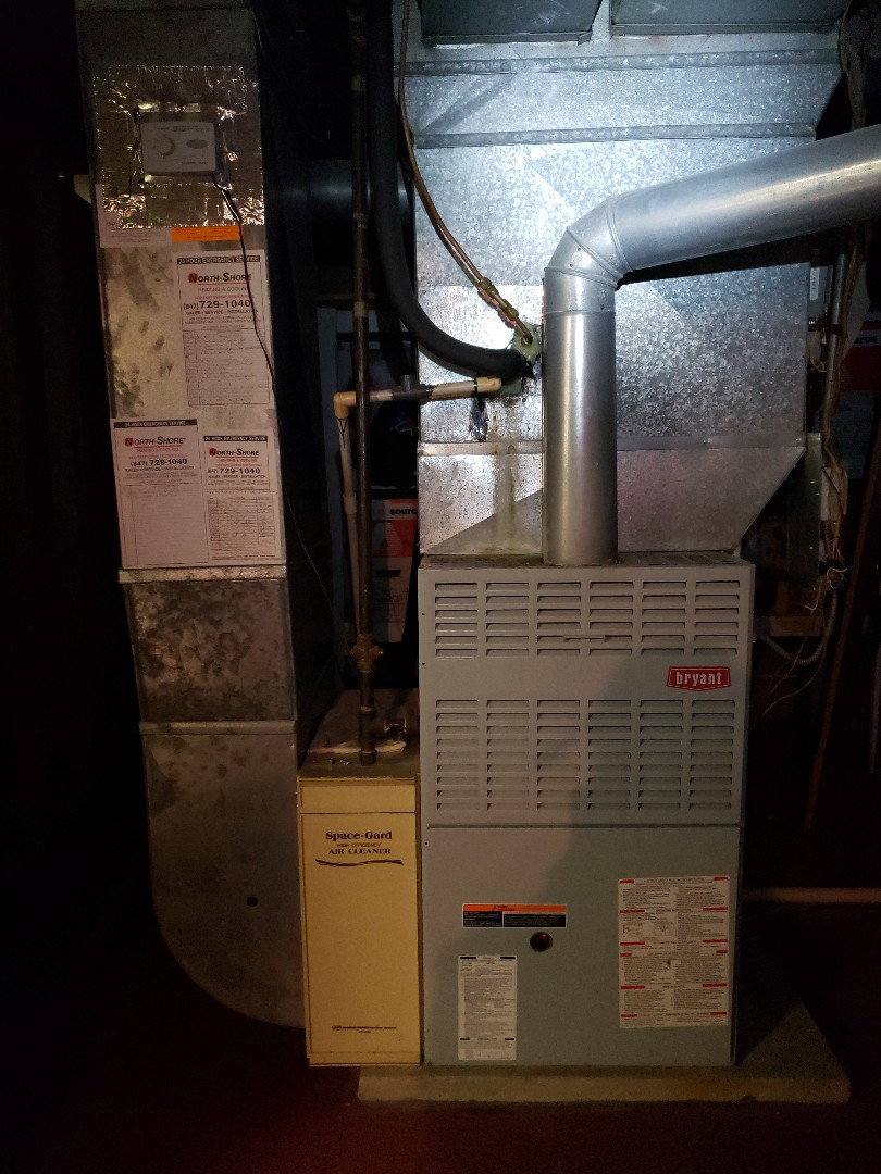 Deerfield, IL - Performed Furnace tune up on Bryant furnace under annual service contract located near you in Deerfield Illinois. Performed maintenance on AprilAire humidifier. Replace April Aire humidifier pad filter. We are North Shore Heating and Cooling located near you in Glenview Illinois serving the northshore for over 30 years. We are in your neighborhood everyday Northbrook, Highland Park, Deerfield, Glencoe, Wilmette, Winnetka, Glencoe, Golf, Northfield, Lincolnshire and Riverwoods. Call today for expert HVAC service near you at 847-729-1040 and visit us at www.northshoreheatingandcooling.com