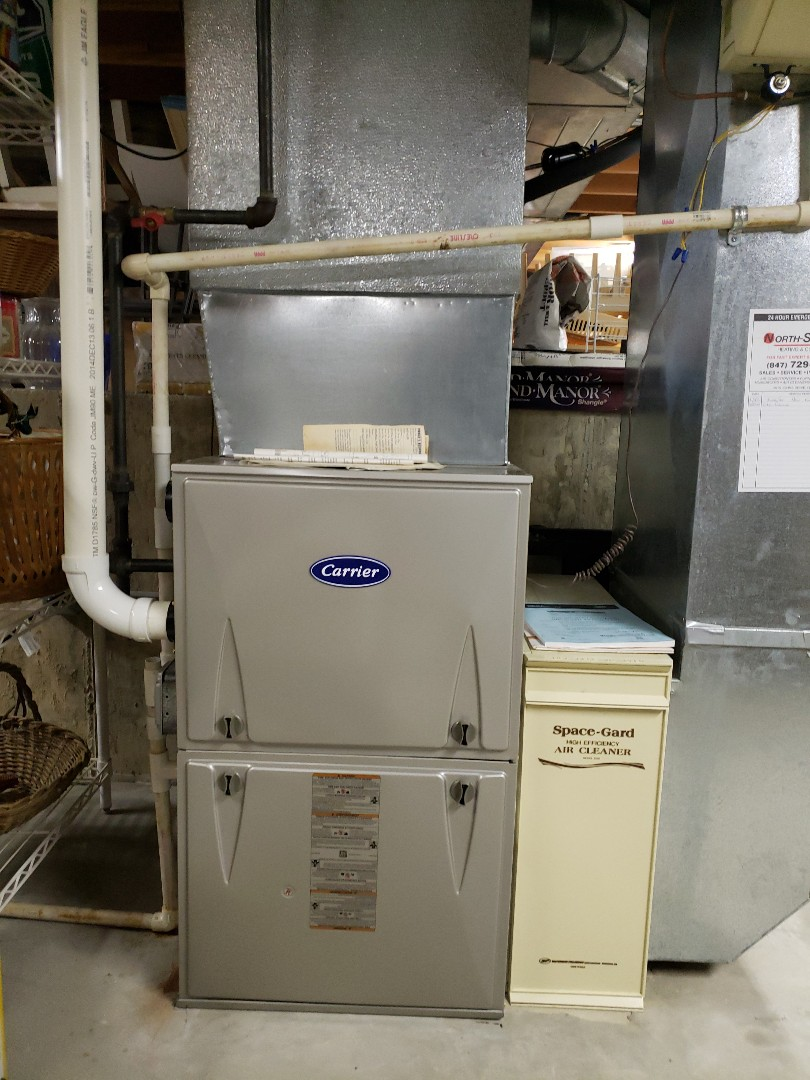 Performed furnace tune up on Carrier furnace located near you in Wilmette Illinois. North Shore Heating and Cooling located near you in Glenview Illinois are experts in furnace service, furnace repair as well as furnace replacement and furnace installation. Call today to schedule your furnace cleaning and furnace inspection at 847-729-1040 and visit our website for special coupons at www.northshoreheatingandcooling.com/special-offers