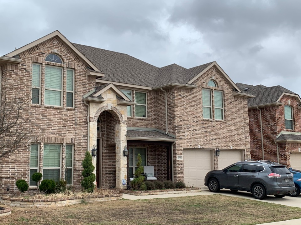 McKinney, TX - Damage from the storm, setting up a re roof for after storm season is over.  More storms may be on the way , we don't want to do this twice or have the customer have to pay two deductibles.