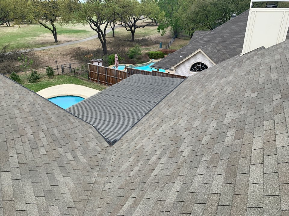 Frisco, TX - Hail damage roof here. The roofing and siding repair