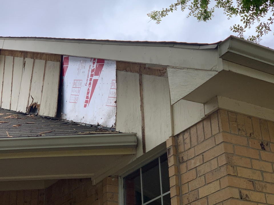 Frisco, TX - Replace siding on this home due to age, water and pests. New siding, seal and paint.