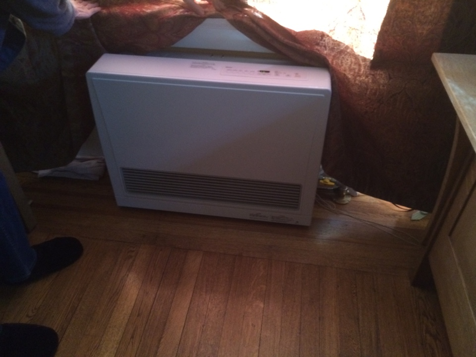 Berkeley, CA - We just got signed off by City for installation of the Rinnai EX22 direct vent heater. The client is thrilled to not have to rely on the old, dangerous floor furnace.
