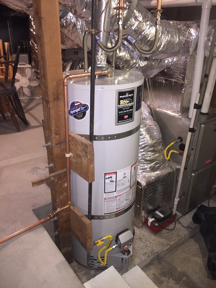 El Cerrito, CA - Provide and install a 50 gallon Bradford White water heater in place of existing one on 6400 Claremont Ave. in Richmond CA