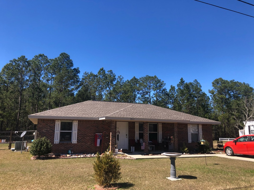 Vancleave, MS - B&M Roofing provided a brand new roof using GAF lifetime series timberline architectural HDZ shingles in the color weatherwood!