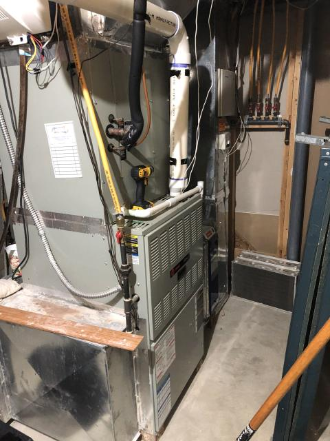 Baltimore, OH - I am Performing our Five Star Tune-Up & Safety Check on a  Trane Gas Furnace. All readings were within manufacturer's specifications, unit operating properly at this time.