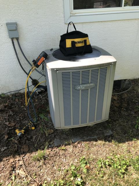 Baltimore, OH - I performed a callback service on a 2014 electric furnace due to a burning smell. I replaced the motor surge capacitor and removed a restrictive filter.