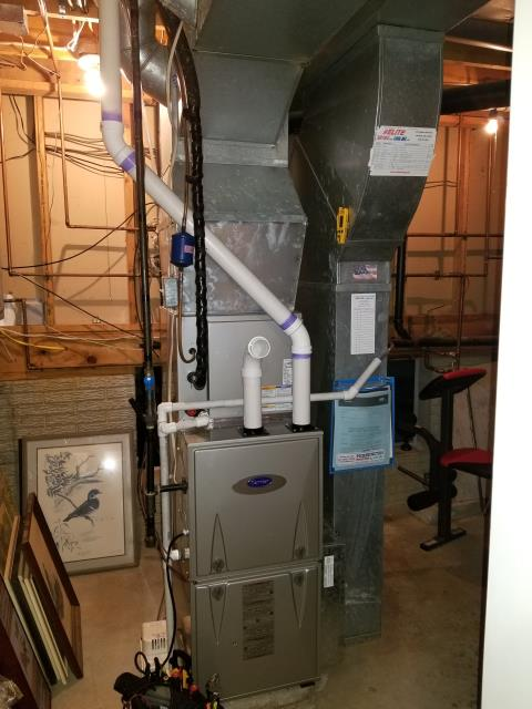 "Pataskala, OH - I performed a tune up on a Carrier ""Infinity Series"" 96% Variable Speed Two-Stage 60,000 BTU Gas Furnace."