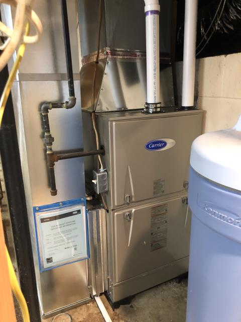 Granville, OH - Upon arrival for tune up safety check on 2020 Carrier furnace, All readings are within manufacturing specifications at this time. Unit operational upon departure.