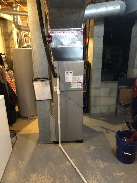 Pickerington, OH - During a tune up on a Carrier 80% 70,000 BTU Gas Furnace, I cleaned the flame sensor. All readings are within manufacturers specifications at this time.