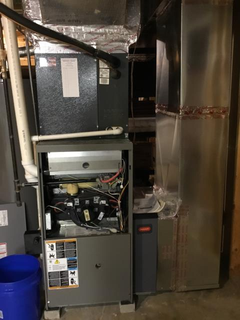 Pickerington, OH - I found the pressure switch stuck open. I checked condensate trap, draining properly. Circuit board is faulty and dropping voltage. Office is ordering Lennox main circuit control board and will be back to replace.