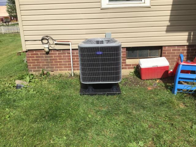 Pataskala, OH - I completed a diagnostic on a Carrier heat pump and electric furnace.  Determined that the 3 amp fuse was blown.  I replace the 3 amp fuse.  Found wires at the heat pump had rubbed a bear spot.  I repaired the wiring.  Cycled and monitored the system.  Operating normally at this time.