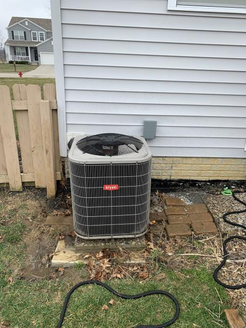 Granville, OH - I performed a tune up on Bryant Air conditioner and everything is working according to manufacturer's specifications
