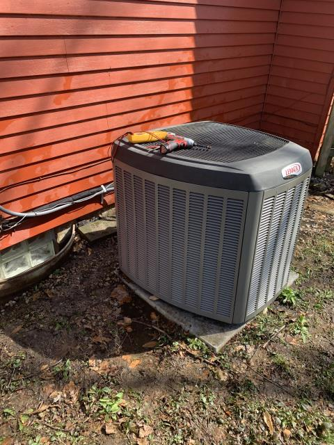 Pataskala, OH - I performed a tune up and safety check on a Lennox air conditioner.  I found that the evaporator coil was rusted and the return air filter was dirty.  I replaced the filter and evaporator coil.  I also  performed a diagnostic on a Goodman gas furnace.  I found that the drain tube inside the furnace was not attached causing water to drain into the furnace.  I reattached the tubing an system if fully functional.  Both systems were fully operational upon departure.