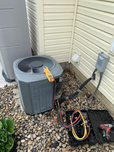 Johnstown, OH - I performed a tune-up check on a Trane air conditioner. Upon departure I ensured the system is running and operational.