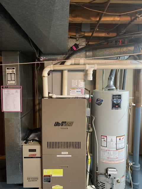 Newark, OH - I performed a diagnostic service call on a Lennox gas furnace. Upon arrival I found the pressure switch was not working properly. I cleaned the tubing, and recommended replacing the pressure switch, customer would like to hold on repair. Upon my departure the gas furnace was operational.