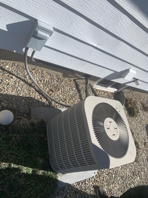 Newark, OH - I performed a checkout/tune-up on a Goodman air conditioner. Upon I arrival I completed my tune-up checklist and I found the unit is about a 1lb low on Freon, I advised customer on adding now, customer says he'll think about adding Freon within 30 days. Upon departure other than the Freon being low, the system is running and operational.