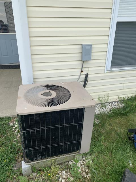 Hebron, OH - I completed a diagnostic on an Armstrong air conditioner. I determined that the unit was operating properly.