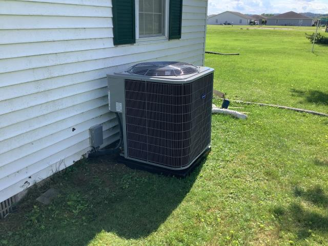 Frazeysburg, OH - I completed a diagnostic on a Carrier air conditioner. I found cardboard tab still in condensate pump not allowing system to operate. System back up and running, customer very happy.