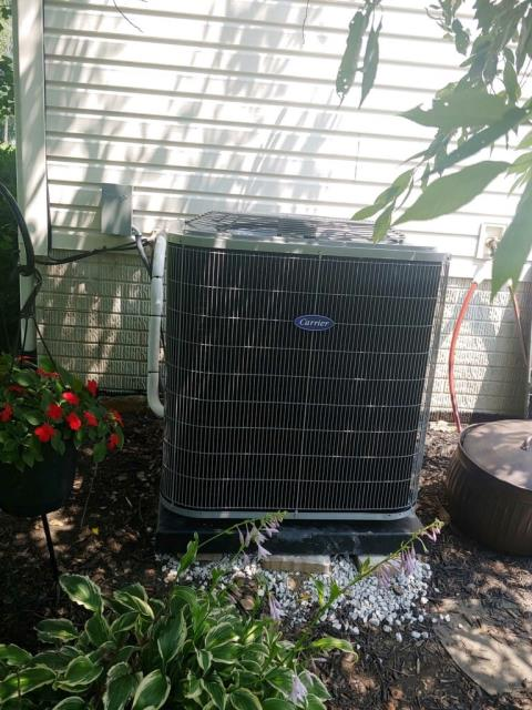 Heath, OH - I completed a half install on a Carrier 16 SEER 4 ton air conditioner.  I cycled and monitored the system. Operating normally at this time. Included with the installation is a free 1 year service maintenance agreement.